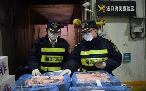 海关:今年1-2月我国进口肉类同比增长69.6%