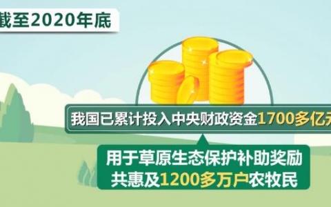 草原生态保护补助奖励1700多亿元惠及1200多万农牧民